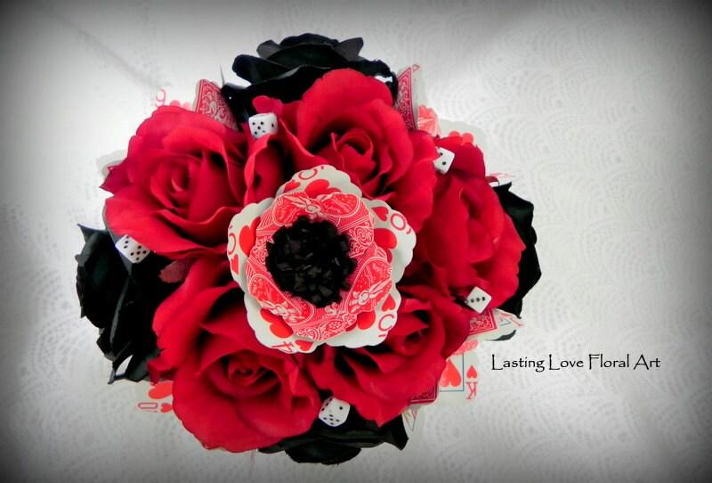 las vegas bridal bouquet las vegas wedding black red and. Black Bedroom Furniture Sets. Home Design Ideas