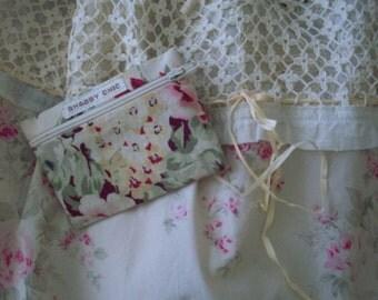 Rachel Ashwell Shabby Chic Roseblossom Pink Roses Cream Vintage Crochet Top