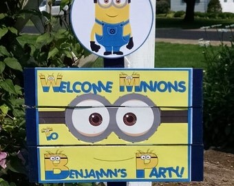 Minions Birthday Yard Sign
