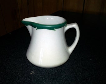 Vintage Mayer China Green Creamer or Syrup Pitcher - Restaurant or Diner Ware