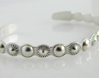 Vintage Sterling Silver Cuff Bracelet by Silver Arrow
