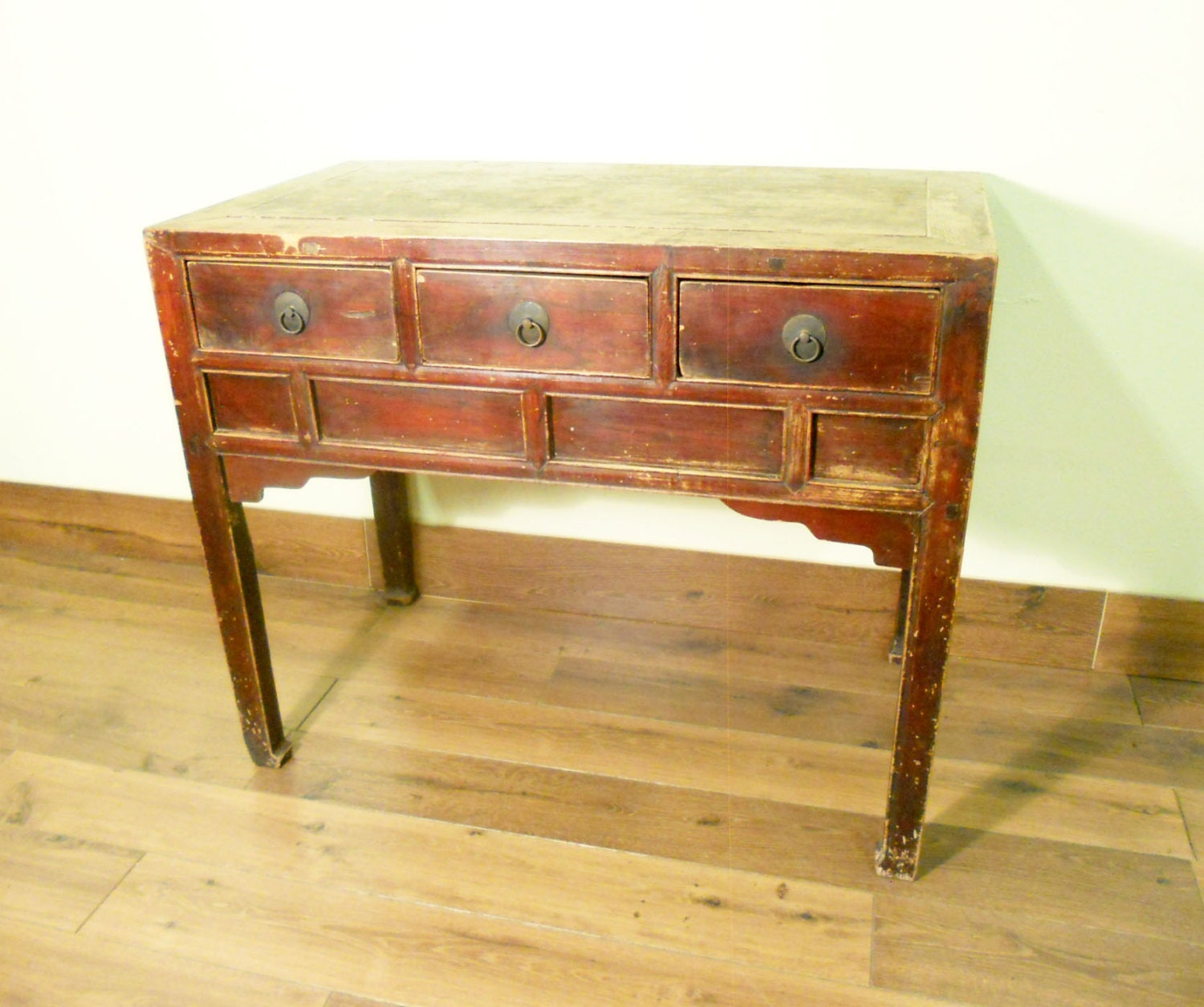 Antique chinese ming desk console table circa