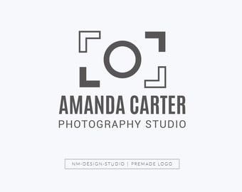 Premade Logo Design - Photography Business Premade Logo 005 - Instant Download