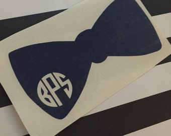 Southern Gentleman - Vinyl Bowtie Monogram Decal