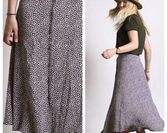 Skirt / Vintage 70s Floral Skirt / Midi Skirt / Vintage Skirt / 70s Skirt / Summer Skirt