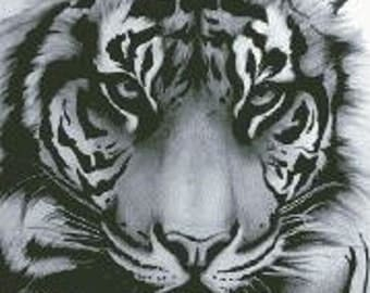 Cross Stitch Pattern ''Tiger'' PDF