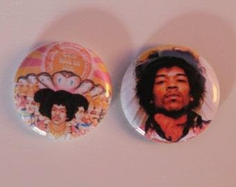 """Jimi Hendrix 1"""" Pins"""