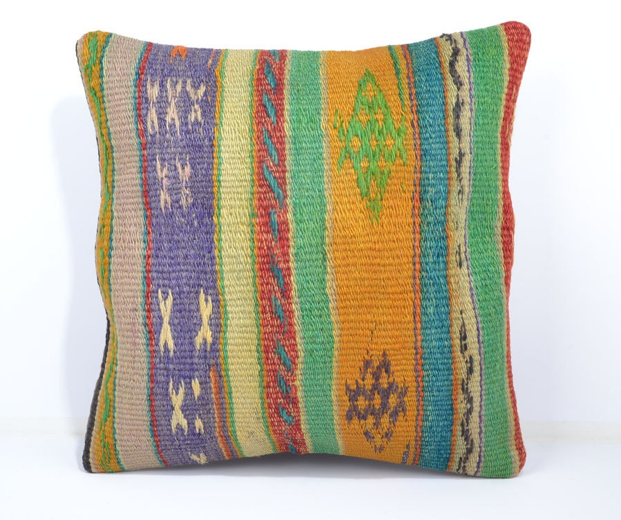 16 bohemian pillow cover floor pillow cover by SandyKilimPillow