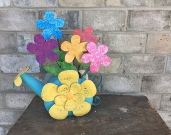 Metal Garden Art Flower Garden Stake - SET OF FIVE