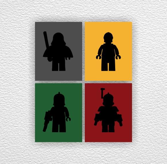 LEGO Star Wars Silhouette Stencil Instant by myfavoritedecor