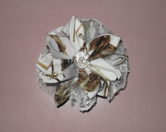 True Timber White Snow camo  country cuties hair clips!. Ready to Ship ! 3x3