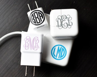 "6 Pack - 1"" Monogram Decals – 2 Styles! - Personalized"