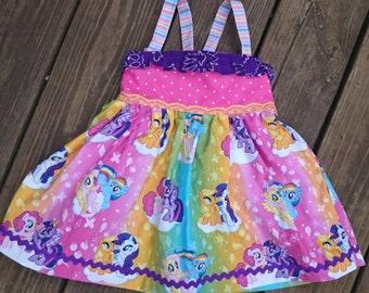 My Little Pony dress girls clothing toddler dress baby girl dress twilight sparkle rainbow dash pinkie pie my little pony birthday party
