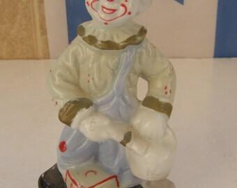 Marvelous Ceramic Porcelain Colorful Clown Figurine