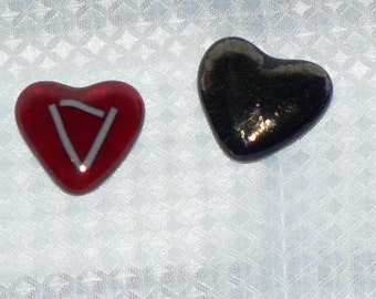 Handmade Fused Glass Pocket Hearts