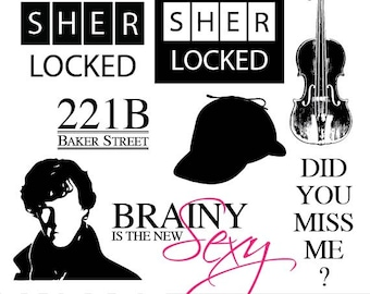 INSTANT DOWNLOAD Sherlock Holmes Inspired Clip Art - Png, Jpeg, Eps, Illustrator - Scrapbooking, Crafting