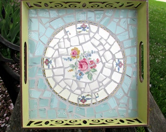 Broken China Mosaic Tray