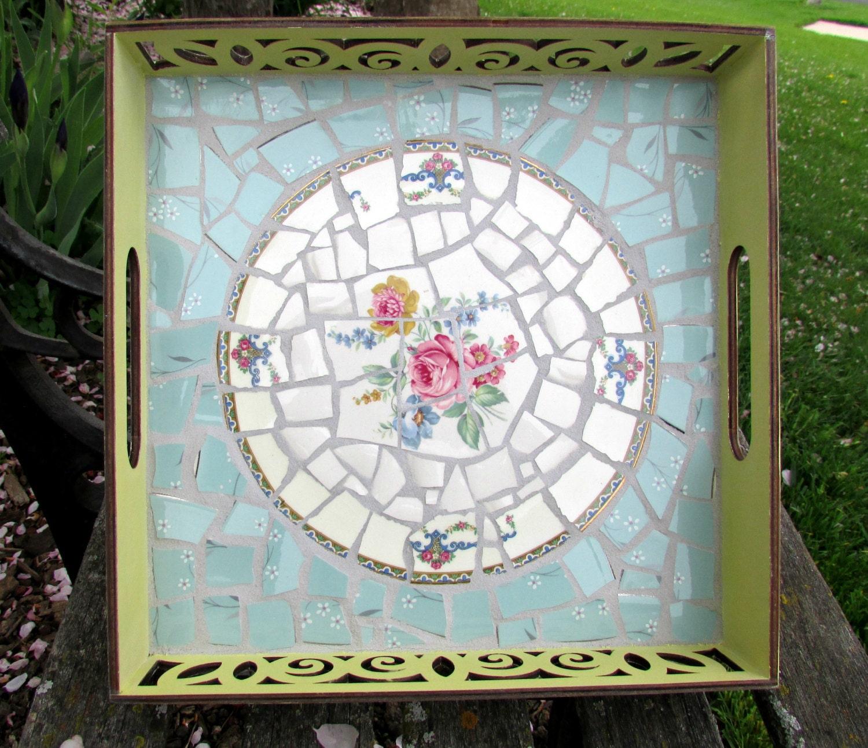 Broken China Mosaic Tray