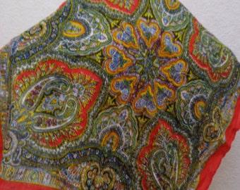 Vintage Shawl,80s Mod Shawl,Neckerchief Retro
