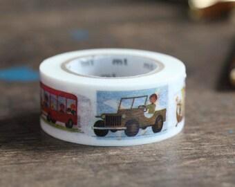 MT Washi Tape Alain Grée Vehicle New MT Washi Tape Summer Collection 2015 Artist Series (MTALAN04)