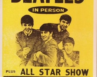 The Beatles at Shea Stadium John Lennon Paul McCartney George Harrison Ringo Star Beatles Poster Beatles Posters 11 x 17 poster