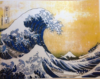 Hokusai The Great Wave 11 x 14  poster