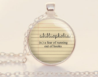 Abibliophobia - Fear of Running Out of Books - Book Lover - Reader - Reading  - Books - Library (B5000)