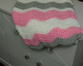 Crochet Baby Blanket, Crochet Chevron Blanket, Baby Blanket, Crochet wave blanket, Crochet Blanket