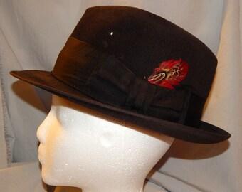 Vintage Dobbs Fifth Avenue Men's Fedora - Dark Brown Wool Felt, Dobbs Twenty