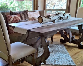 Custom Wood Dining Table Farmhouse Rustic Reclaimed Style