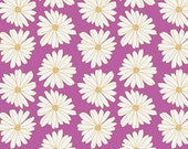 CLEARANCE - 1/2 Yard - Anna Elise by Bari J. / Art Gallery / Daisies Lilac Scent / Moonflower Lady palette / Floral / Purple / Half Yard