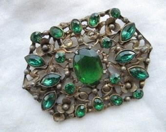 Green Glass Pin - 53