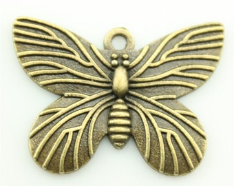 10pcs 30×22mm butterfly charms antique Bronze tone Pendant A10796