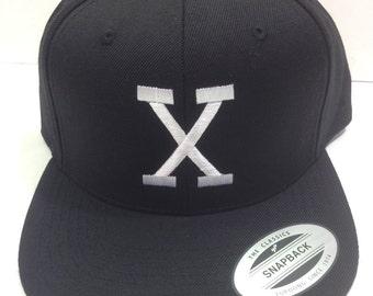 X snapback, X hat, X Cap