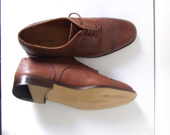 Vintage men's shoes / brown/ italian handmade /real leather. Vtg /country/rockabilly/retrò/mad men/swing
