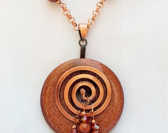 Gorgeous Goldstone and Copper