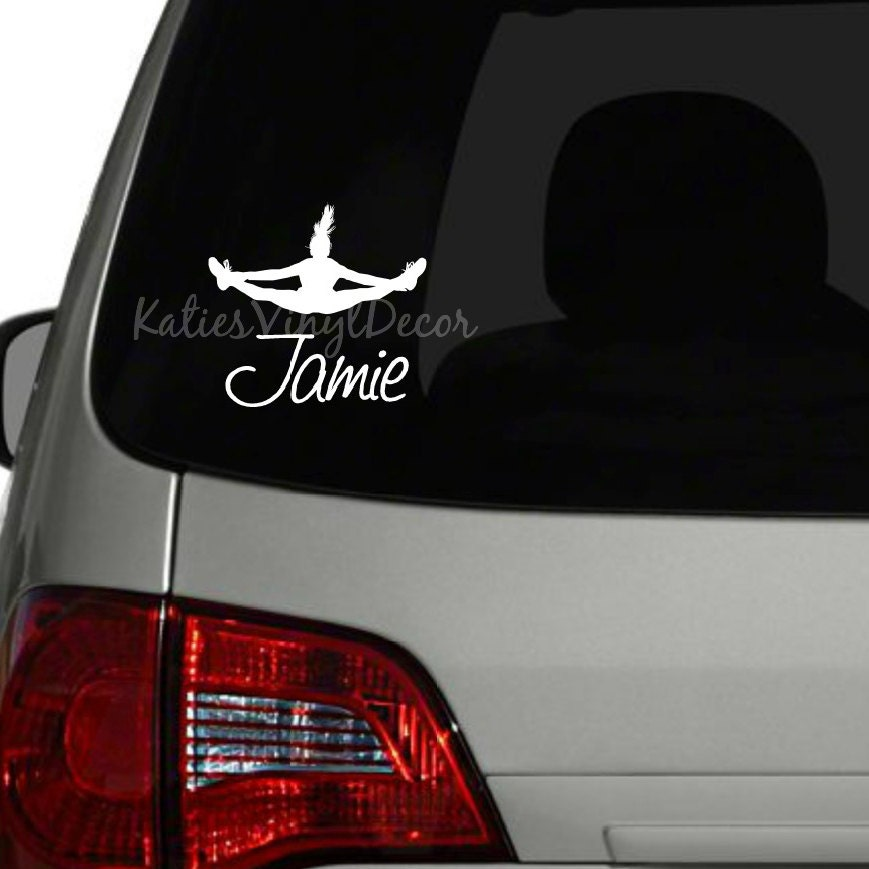Personalized Cheerleading Car Decal Personalized Cheerleading - Team window decals personalized