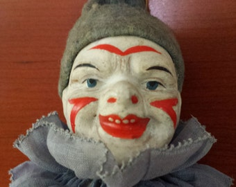 Antique One Legged Creepy Clown early circa 1905