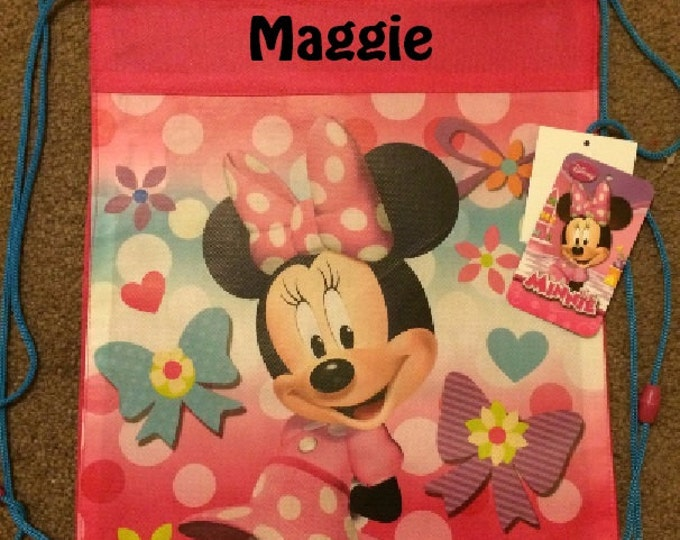MINNIE Drawstring Backpack Sling Bag – Personalized