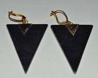 Wonderful Retro 1970's-80's Hematite earrings.  (1017018)*