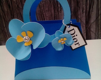 Paper purse gift bag, graduation,bridal shower Sweet 16  gift bag
