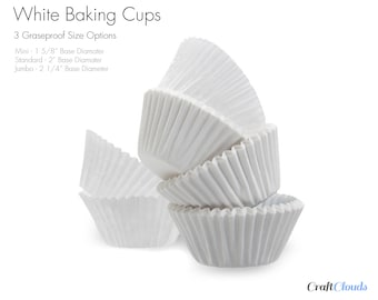 500 Count White Greaseproof Baking Cups for Muffins and Cupcake Liners -