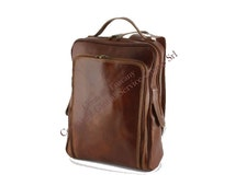 Genuine Leather Backpack, Zaino in Pelle, Sac à dos en cuir, Leder Rucksäcke, Leren Rugzak, Made in Italy - COT7014 - Conti of Tuscany