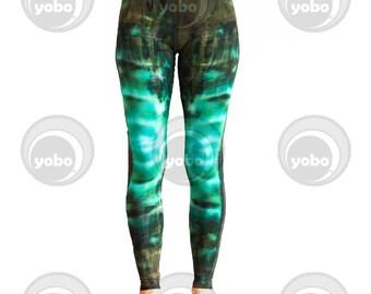 Green Fever Batik Leggings