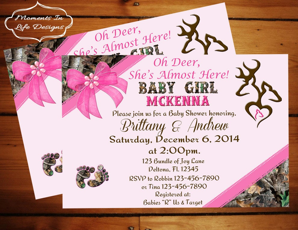 peek a boo camo baby shower invitation girl girl camo