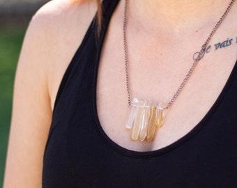 Polished Gold Quartz Necklace