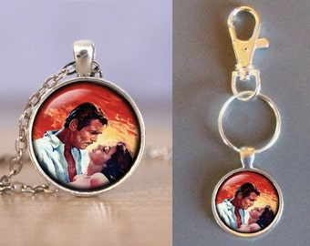 Gone With The Wind - Glass Pendant - Your Choice of Necklace or Keychain