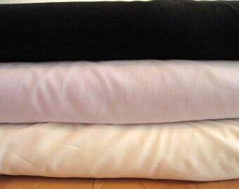 Pima Cotton Batiste Fabric, By The Yard, White, Ivory, Baby Blue, Black