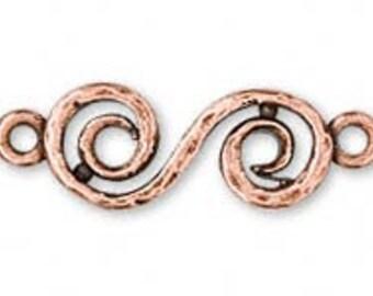 """Metal """"S"""" Link - 21x14mm - Antique Gold / Antique Copper / Antique Silver - 1 Piece"""