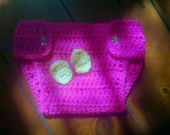 Crochet Diaper Cover  Size Newborn